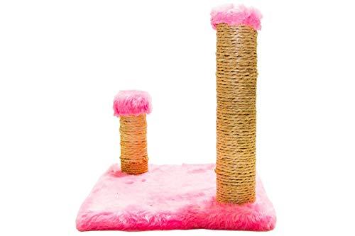 Brinquedo Arranhador Quadrado com Postes Luppet para Gatos Rosa