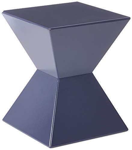 HAKU meubels bijzettafel van gegoten kunststof, hoogglans gelakt 35 x 35 x 43 cm Pearl braambes