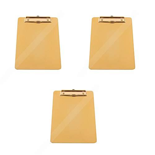 CHAO Portapapeles de Acero Inoxidable de 3 PCS Memo Holder, fácil de apilar y organizar, portátil, Resistente y Duradero Adecuado para Bodas, planificación de relaciones públicas