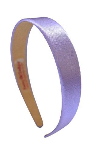 1 Inch Wide Funny Girl Designs Satin Headband (Lavender)