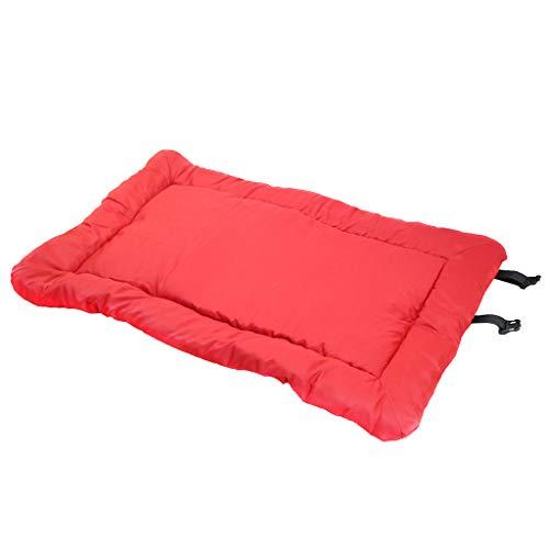 MERIGLARE Camas Impermeables Cómodas para Perros para en Interiores Y Exteriores, Rojo