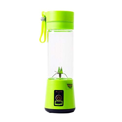 ZHANGNING Juicer Tamaño portátil USB Fruta eléctrica Juicer Handheld Maker Maker Blender Right Recargable Mini Portátil Jugo Taza Agua Juicer centrífugo (Color : Green)