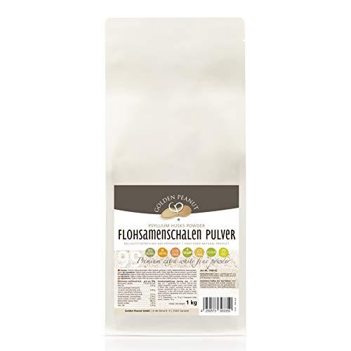 Flohsamenschalen Pulver 99 % 1 kg | Psyllium Pulver | fein gemahlen | ohne Zusätze | glutenfrei | geprüfte Qualität | Backzutat| Golden Peanut