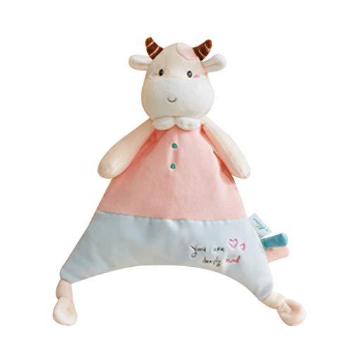 Bciou Becerro Muñecas Bebé Sonajero BB Sonido Felpa Juguete Recién Nacido Cartoon Appease Toalla