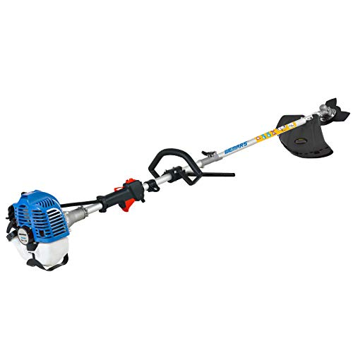 WEMARS 25CC Gas String Trimmer 2-Cycle Gas Brush Cutter Straight Shaft 2 in 1 Cordless Grass Edger Weed Wacker Gasoline Powered Weed Eater (WS-ST25G)