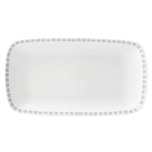 KATE SPADE Charlotte Street Hors D'Oeuvres Tray, 2.25 LB, Taupe/Grey