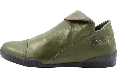 Andrea Conti 0340518 Damen Ankle Boots Stiefeletten Leder, Größe:38 EU, Farbe:Grün