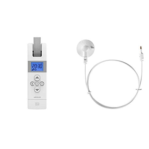 WIR elektronik, eWickler Comfort, eW820, Elektrischer Gurtwickler, Display, für 23mm Gurtband, Unterputz, Zugkraft bis 50kg & Sonnen- /Dämmerungssensor eSo371 1 m, weiß, 1 Meter