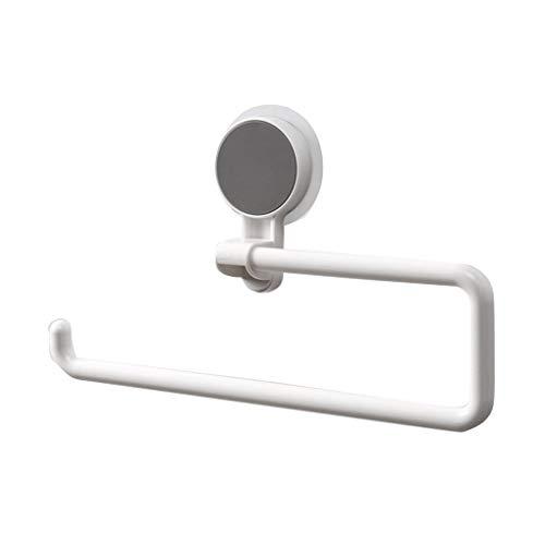 Toalettpappershållare Kitchen Hook Badrum Sucker Rack Vridbar Väggmonterad rullpapper Shelf Organizer