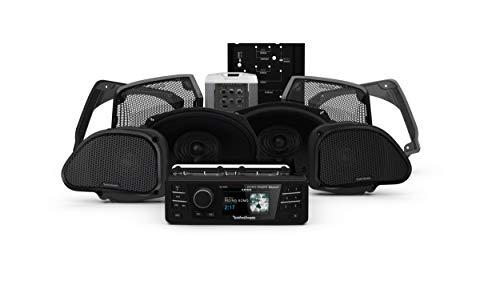 Rockford Fosgate HD9813RG-STAGE3 Digital Media Receiver, Four Speakers & Amplifier Kit for 1998-2013 Harley-Davidson Road Glide