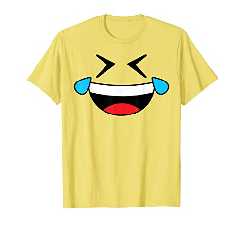 Halloween Emojis Costume Crying Laughing Emoticon Tears T-Shirt