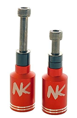 Nokaic Estriberas Pegs para Scooter Patinete Freestyle, 2 Unidades con Tornillos incluidos (Rojo)