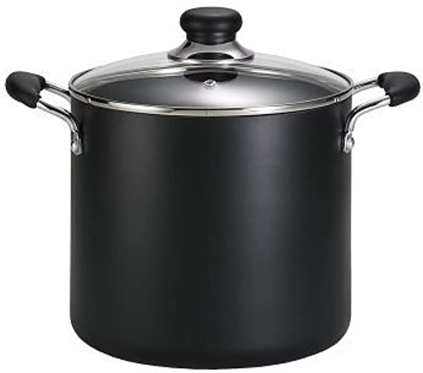 T Fal B36262 Specialty Total Nonstick Dishwasher Safe Oven Safe Stockpot Cookware 12 Quart Black