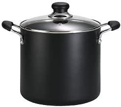 T-fal B36262 Specialty Total Nonstick Dishwasher Safe Oven Safe Stockpot Cookware, 12-Quart, Black