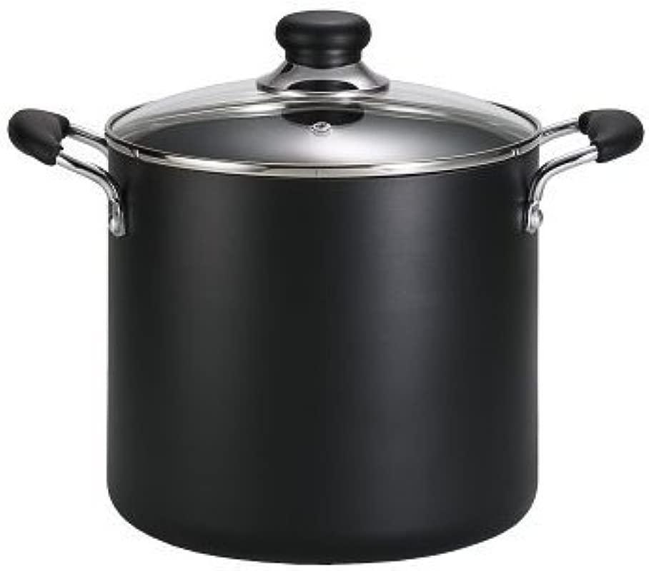 T Fal B36262 Specialty Total Nonstick Dishwasher Safe Oven Safe Stockpot Cookware 12 Quart Black