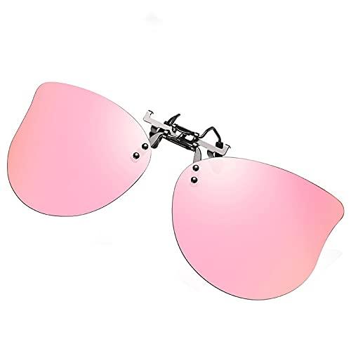 AMFG Gafas De Sol Clip-on Classic Fashion Polarized Sunglass Sun Flip-Up Lens Clip (Color : C)