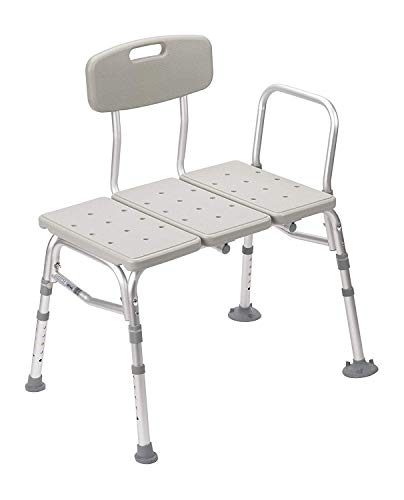 Drive Medical Transfer Tub Bench, Knocked Down, Tool-Free, 1 Each 1 Count