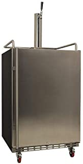 EdgeStar KC7000SS Full Size Built-in Tower Cooled Kegerator - Black and Stainless Steel