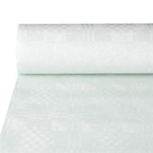 Papstar Papiertischtuch mit Damastprägung weiss 50m x 1m 5 Rollen 12542