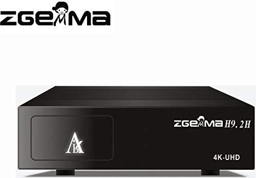 Decoder Zgemma H9.2H Combo Wi-Fi 4K UHD con Tuner DVB-T2 S2x Multistream, lettore di scheda Tivusat e Viacess, connessione LAN e Wireless per Iptv, risoluzione fino a 2160p