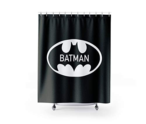 prz0vprz0v Batman-Duschvorhang, Superhelden-Duschvorhang, Kinder-Duschvorhang, Jungen-Duschvorhang, Jugendliche-Duschvorhang, Duschvorhang, Kinder-Vorhang, 187,8 x 182,9 cm
