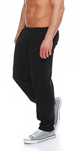Gennadi Hoppe Herren Sporthose Trainingshose Jogginghose Pants Sweatpants,schwarz,Large