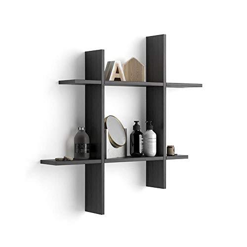Mobili Fiver, Mensole Angelica # Nero Frassino, Nobilitato, Made in Italy
