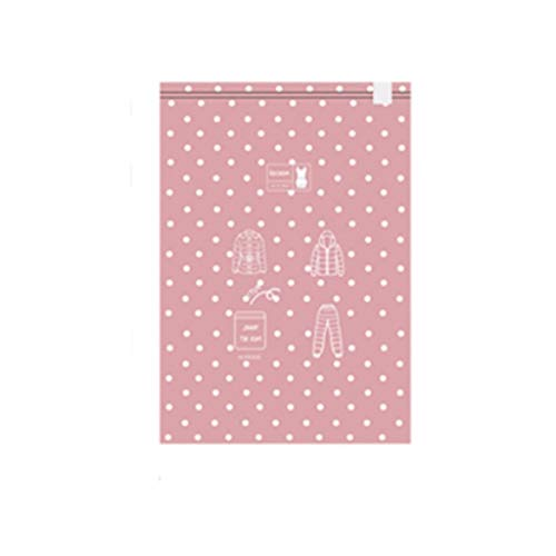 PRIDE S Bolsa de compresión de vacío portátil de Viaje Ropa clasificación Bolsa de Embalaje Rollo de Mano Bolsa de Almacenamiento sellada Decoración de Almacenamiento (Color : Pink)