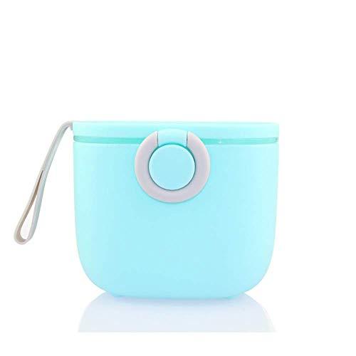 Voarge Lata de leche en polvo para bebé, grande, recipiente para leche para bebés, recipiente para leche en polvo, recipiente para almacenamiento de leche en polvo, portátil (azul)