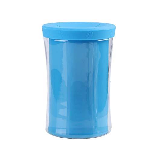 Chacerls Pfotenreiniger, Hund Pfotenreiniger Nettes Haustier Katze Hund Pfotenreinigungsbecher Silikon Fußwaschreiniger Becherwerkzeug Werkzeug Heimtierbedarf(Blau)