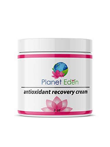 Planet Eden Organic Antioxidant Recovery Cream for Mature Skin- Soothes and Heals with Deep Moisture and Hyaluronic Acid - Excellent for Skin Peels