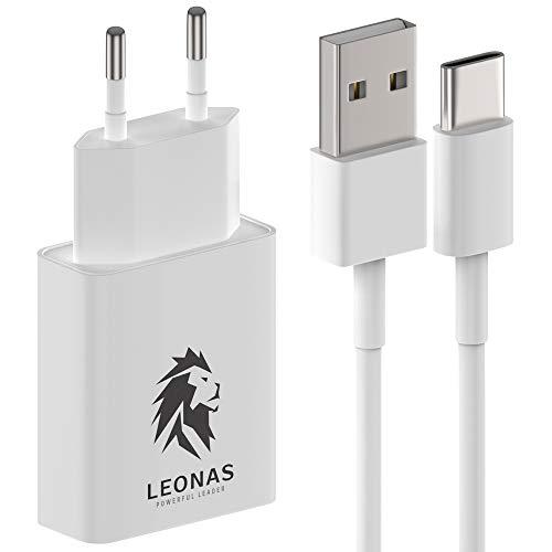 LEONAS Cargador de pared con cable de carga USB-C USBC Adaptador de corriente de carga rápida con cable de datos Cargador con cable de carga rápida para teléfonos móviles y dispositivos tipo C