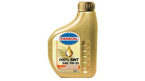 TAMOIL Lubrificante100% SINT Plus SAE 5w30, Benzina/Turbodiesel, Alte Prestazioni 1 Lt