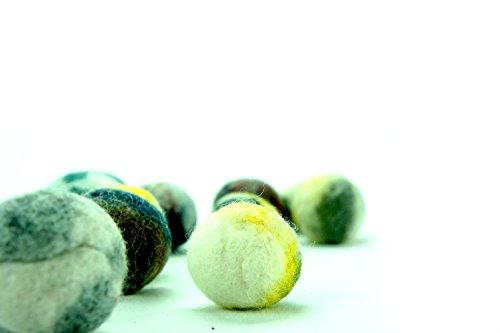 kivikis Cat Toy Wool Balle en laine douce et légère fabriquée à la main