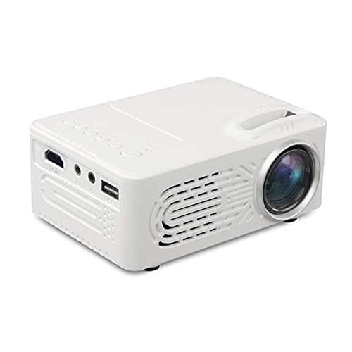 ZHAOHGJ Worth Having - El proyector de Entretenimiento doméstico Mini Micro Portable es Compatible con el proyector de conexión de teléfono móvil de 1080p 4K HD, Blanco (Color : White)