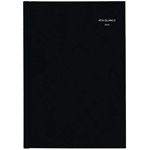 AT-A-GLANCE 2020 Monthly Planner, DayMinder, 8 x 11-3/4, Large, Hardcover, Premiere, Black (G470H00)