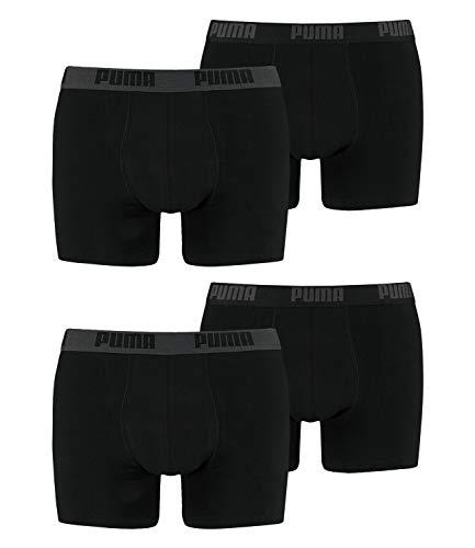 PUMA Boxershort Basic 4er Pack, Schwarz, XL