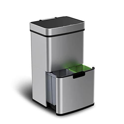 VERTAK, 72 l Sensor Recycling-Mülleimer Abfalleimer für Küche, Wohnzimmer, Büro