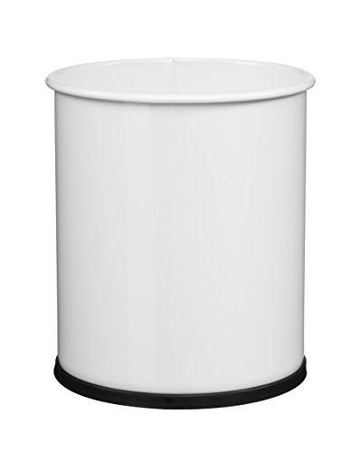 ROSSIGNOL Papea Corbeille A Papier Metal-8L Blanc, Acier, 21x21x25,5 cm