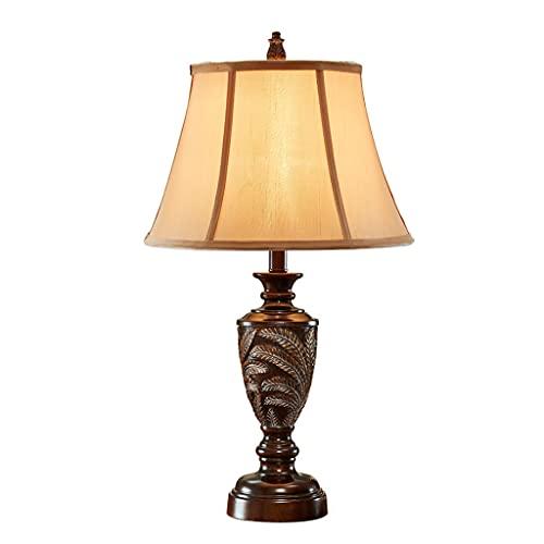Lámpara de mesa de mesa de mesa de estilo retro de estilo de la lámpara de la lámpara de la lámpara de la lámpara de la tela para la sala de estar del dormitorio 26.9 pulgadas * 14.5 pulgadas