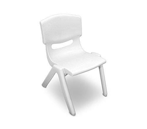 MEDIA WAVE store 173710 Silla de plástico Resistente para niños 26x30x50 cm - Blanco