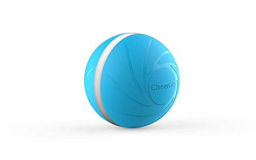 Wicked Ball, 100% Automatic and Interactive Ball to Keep Your Dogs/Cats Company All Day, Your Pet's Joy When Home Alone -NOT for Dog CHEWERS (Blue)