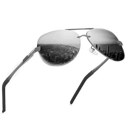 KITEOAGE Gafas de sol para hombre Gafas de polarizadas UV400 con espejo Gafas de sol para mujer
