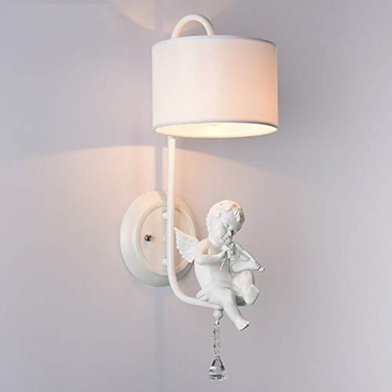 WEI Engel Wandleuchten Moderne Einfache Kreative Wohnzimmer Lichter Gang Schlafzimmer Nachttischlampe Stoff Wandleuchte