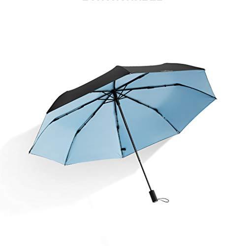 Inconnu Double écran Solaire Couleur Noire Parapluie UV Sun Parasol Parasol Classique Couleur Unie Pluie et Pluie à Double Usage (Couleur : C)
