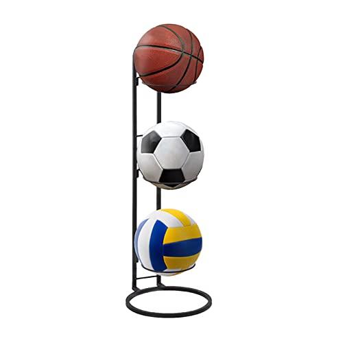 Sport Ball Rack Display Ball Halter Für Basketball Fußball Fußball Volleyball Übungsball Medizinball, Ballhalter Ballständer Ballhalterung Der Aufrechte Basketball-Lagerregal, Abnehmbar