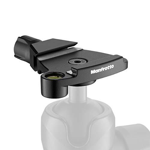 Manfrotto MSQ6T Traveler Top Lock Schnellwechseladapter - Arca-kompatible Plattenvorrichtung für Befree Stative, perfekt für Manfrotto 494 und 496 Kugelköpfe- kompakt und leicht - Aluminium