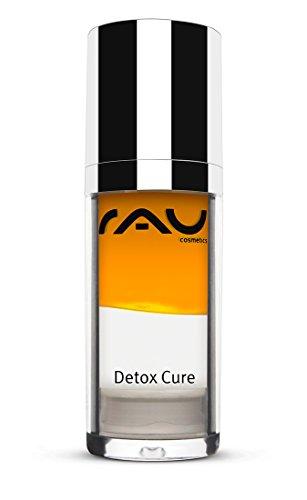 RAU Cosmetics Detox Cure Serum 30 ml- Konzentrat zur Entgiftung & Linderung von Rötung & Entzündung mit Hyaluronsäure