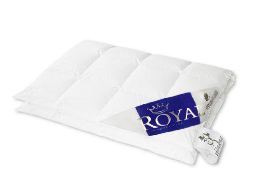 Hanskruchen Royal Luxus Daunendecke, Warm, Baumwolle, 155 x 220 cm