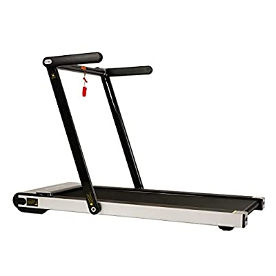 Sunny Health & Fitness Asuna Space Saving Treadmill, Motorized with Low Profile, Speakers & Slim Folding - 8730